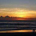 Strolling The Beach During Sunset by Patricia Twardzik