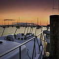Stuart Marina At Sunset by Fran Gallogly