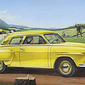 Studebaker Champion Antique Americana Nostagic Rustic Rural Farm Country Auto Car Painting by Walt Curlee