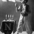 Student Works As Fire-eater by Underwood Archives