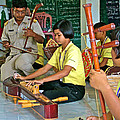 Students Playing Traditional Thai Instruments In Music Class At  Baan Konn Soong School In Sukhothai by Ruth Hager