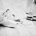 Students Putting On Pointe Shoes At A Ballet School In The Uk by Joe Fox