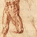 Studies For Haman by Michelangelo Buonarroti