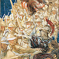 Study For The Coming Of The Americans by John Singer Sargent