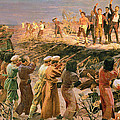 Study For The Execution Of The Twenty Six Baku Commissars by Isaak Israilevich Brodsky