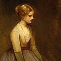 Study Of A Fair Haired Beauty  by Jean Jacques Henner