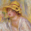 Study Of A Girl, C.1918-19 by Pierre Auguste Renoir