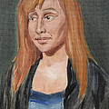 Study Of A Young Woman In A Black Sweater by Jeffrey Oleniacz
