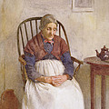Study Of An Elderly Lady by Frederick James McNamara Evans