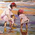 Study Of Edward Potthast's Seashore by Susan Elizabeth Jones