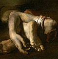 Study Of Feet And Hands, C.1818-19 Oil On Canvas by Theodore Gericault