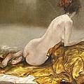 Study Over A Silk Drapery by Grigor Malinov