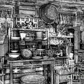 Stuff For Sale Bw by Mel Steinhauer