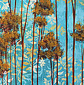 Stunning Abstract Landscape Elegant Trees Floating Dreams II By Megan Duncanson by Megan Duncanson