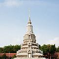 Stupa At The Silver Pagoda, Cambodia by David Davis