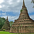 Stupas Of Wat Mahathat In 13th Century Sukhothai Historical Park-thailand by Ruth Hager