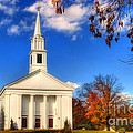 Sturbridge Church In Autumn by Joann Vitali
