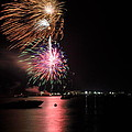 Sturgeon Bay Fireworks by Larry Peterson