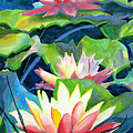 Styalized Lily Pads 3 by Kathy Braud