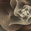 Stylized Philodendron Sepia by Gabiw Art