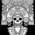 Stylized Skull. Pagan God Of Death by Zvereva Yana