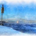 Sub-zero Blue Water by Rick Lloyd