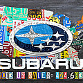 Subaru License Plate Map Sales Celebration Limited Edition 2013 Art by Design Turnpike
