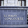 Subway Concourse At City Hall by Bill Cannon