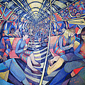 Subway Nyc, 1994 Oil On Canvas by Charlotte Johnson Wahl