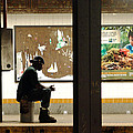 Subway Sitter by Mieczyslaw Rudek