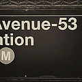 Subway Station Sign by Jaroslav Frank