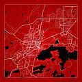 Sudbury Street Map - Sudbury Canada Road Map Art On Color by Jurq Studio