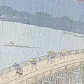 Sudden Shower On Ohashi Bridge At Ataka by Ando Hiroshige
