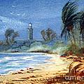 Sudden Storm Faro De Punta Tuna by Bill Holkham
