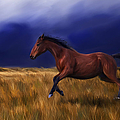 Galloping Horse Painting by Michelle Wrighton