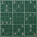 Sudoku On A Chalkboard by Chevy Fleet
