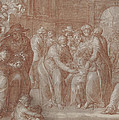 Suffer The Little Children To Come Unto Me by Joachim Wtewael or Utewael