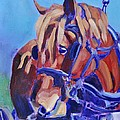 Suffolk Punch Draft Horse Plow Match by Sylvina Rollins