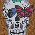 Sugar Candy Skull Leopard by Karen Larter