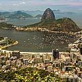 Sugar Loaf Mountain In Rio De Janeiro by Ernesto Santos