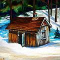 Sugar Shack Quebec Landscape by Carole Spandau