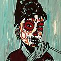 Sugar Skull Audrey by Amanda Morrison