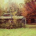 Sugarhouse In Autumn by Jeff Folger