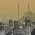 Suleymaniye Mosque And New Mosque In Istanbul by Ayhan Altun