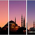 Suleymaniye Sundown Triptych 01 by Rick Piper Photography