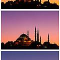 Suleymaniye Sundown Triptych 03 by Rick Piper Photography