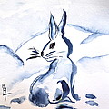 Sumi-e Snow Bunny by Beverley Harper Tinsley