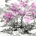 Sumie No.2 Plum Blossoms by Sumiyo Toribe