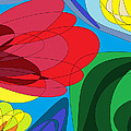 Summer Abstract by Mhiss Little