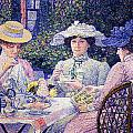 Summer Afternoon Tea In The Garden-1901 by Theo van Rysselberghe
